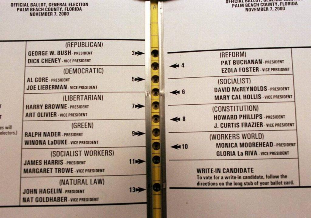 motylkowa karta wyborcza